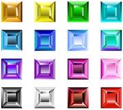 Vierkante chatonrozen Stock Fotografie