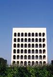 Vierkante coliseum in Eur - Rome Stock Afbeeldingen