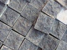 Vierkante concrete blokachtergrond Stock Afbeeldingen