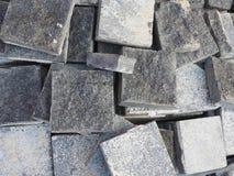 Vierkante concrete blokachtergrond Royalty-vrije Stock Fotografie