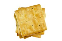 Vierkante crackers Stock Foto's