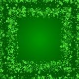 Vierkante de Dagachtergrond van Heilige Patricks met klaver vector illustratie