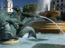 Vierkante de fonteinclose-up van Trafalgar Stock Fotografie