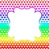 Vierkante de uitnodigingskaart van het hartenkader stock illustratie