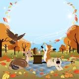 Vierkante de versie lege titel van Autumn Greeting Stock Afbeeldingen