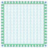 Vierkante de wintergrens en naadloos patroon Royalty-vrije Stock Foto's