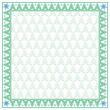 Vierkante de wintergrens en naadloos patroon Royalty-vrije Stock Fotografie