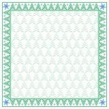 Vierkante de wintergrens en naadloos patroon Royalty-vrije Stock Afbeeldingen