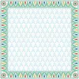 Vierkante de wintergrens en naadloos patroon Royalty-vrije Stock Afbeelding