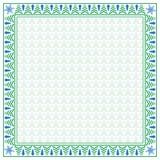 Vierkante de wintergrens en naadloos patroon Stock Afbeeldingen