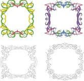 Vierkante decoratieframes Royalty-vrije Stock Afbeeldingen