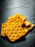 Vierkante droog gezouten crackers Royalty-vrije Stock Afbeelding