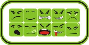 Vierkante Emoticon Royalty-vrije Stock Afbeeldingen