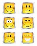 Vierkante emoticons stock illustratie