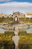 Vierkante Fontein en Mannerist tuin Lazio, Italië royalty-vrije stock afbeeldingen
