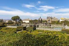 Vierkante Fontein en Mannerist tuin Lazio, Italië royalty-vrije stock fotografie