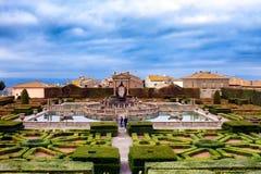 Vierkante Fonteinvilla Lante Italië Royalty-vrije Stock Fotografie
