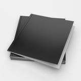 Vierkante formaat lege zwarte catalogi royalty-vrije stock afbeeldingen