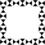 Vierkante formaatfoto, omlijsting met mozaïek van lijnen royalty-vrije illustratie