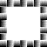 Vierkante formaatfoto, omlijsting met mozaïek van lijnen stock illustratie