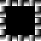 Vierkante formaatfoto, omlijsting met mozaïek van lijnen vector illustratie