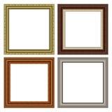 Vierkante frame reeks Stock Foto's
