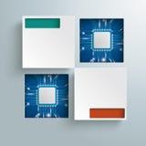 Vierkante Gaten 2 Microchips Infographic Stock Afbeelding