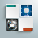 Vierkante Gatenmicrochip Dlock Infographic Stock Foto