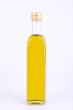 Vierkante glasfles olijfolie   Royalty-vrije Stock Afbeeldingen