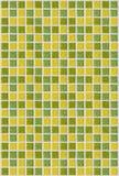 Vierkante groene gele de textuurachtergrond van het tegelmozaïek Royalty-vrije Stock Foto
