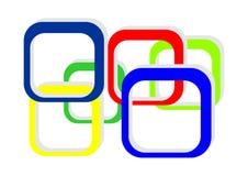 Vierkante het frame van de kleur achtergrond Stock Illustratie