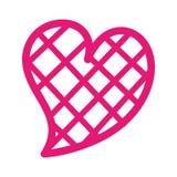 Vierkante het ontwerp Romaanse hartstocht van de hartliefde stock illustratie