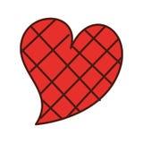 Vierkante het ontwerp Romaanse hartstocht van de hartliefde vector illustratie