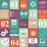 Vierkante Infographic-elementen Stock Foto