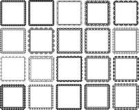 Vierkante kaders Stock Foto's