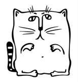 Vierkante kat vector illustratie
