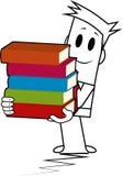 Vierkante kerel-boek stapel Royalty-vrije Stock Afbeelding
