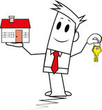 Vierkante kerel-hypotheek Royalty-vrije Stock Afbeelding