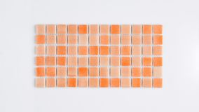 Vierkante kleine tegel royalty-vrije stock fotografie