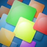 Vierkante Kleurrijke Achtergrond Royalty-vrije Stock Afbeeldingen