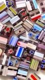 Vierkante Kleurrijke Parels Stock Foto's