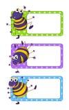Vierkante markeringen met gelukkige spinnen Royalty-vrije Stock Afbeelding