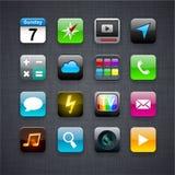 Vierkante moderne app pictogrammen. Royalty-vrije Stock Foto