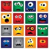 Vierkante Monsters Royalty-vrije Stock Afbeeldingen