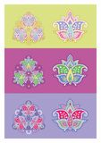 Vierkante mooie mandala royalty-vrije illustratie