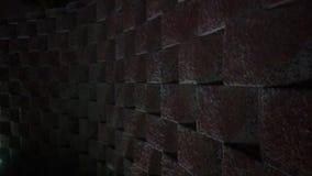 Vierkante Muur met Licht Royalty-vrije Stock Foto's
