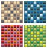 Vierkante naadloze patronen Royalty-vrije Illustratie