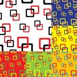 Vierkante naadloze patroonachtergrond Stock Foto's