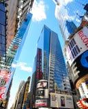 Vierkante New York van tijden stad Stock Afbeeldingen