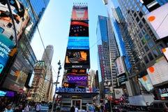 Vierkante New York van tijden stad Stock Afbeelding